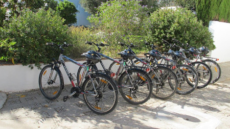 Bikes for rent for a bicycle tour in the province of Malaga