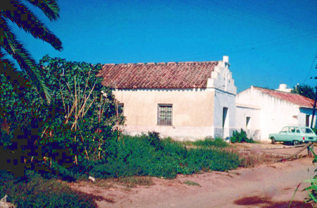 Photo from the year 1961 of the first chapel in the village of Los Rubios